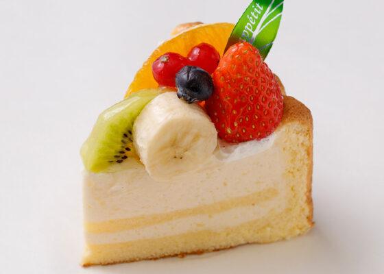 洋梨のケーキフルーツ飾り